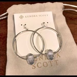 Kendra Scott Elora Silver Hoop Earrings